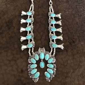 Jewelry - Turquoise squash blossom
